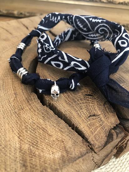 Bracelet double tour marine homme anneau