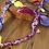 Thumbnail: Cordon/bijoux de téléphone jaune/cyclamen
