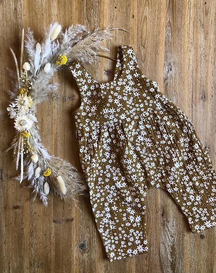Combi à fleurs blanches