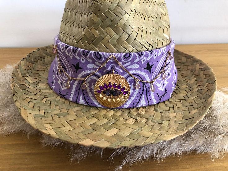 Chapeau lila oeil