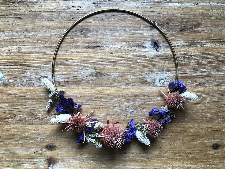 couronne naturel violet et terra