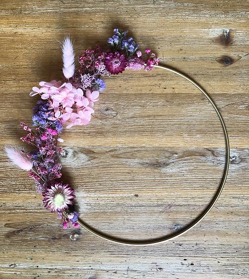 couronne rose et violet