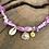 Thumbnail: Collier cyclamen coquillage oeil jaune