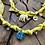 Thumbnail: Collier jaune médaille scarabée