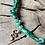 Thumbnail: Collier vert tie and dye serpent