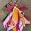 Thumbnail: Porte clefs orange mandarine/fuschia/rose