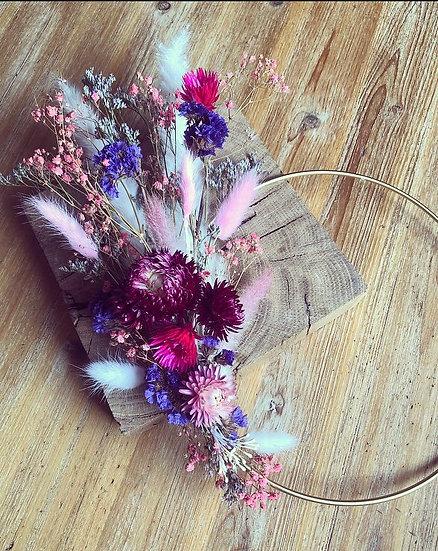 couronne violet et rose