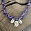 Thumbnail: Collier violet tye and die coquillages croix