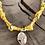Thumbnail: Collier jaune moutarde croix