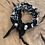 Thumbnail: Bracelet double tour noir homme anneau