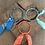 Thumbnail: Joncs bleu/aqua/orange fluo