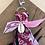 Thumbnail: Porte clefs Noir/fuschia/rose