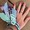 Thumbnail: Joncs violet/Aqua/ciel