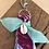 Thumbnail: Porte clefs Aqua/bleu/cyclamen