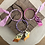 Thumbnail: Joncs violet orange /rose/fuschia rose