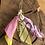 Thumbnail: Boucles d'oreilles rose /jaune