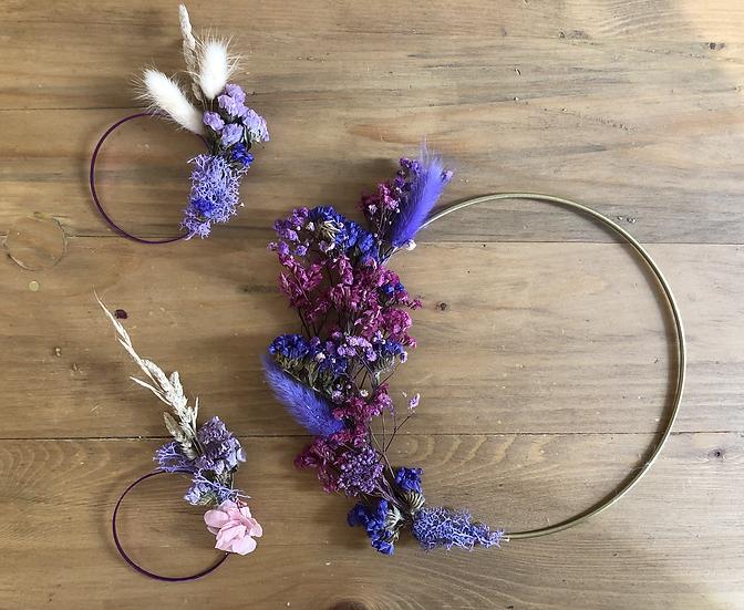 Couronnes de fleurs violet