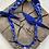 Thumbnail: Collier bleu outremer croix nacre