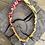 Thumbnail: Collier rouge /orange/jaune cristaux