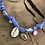 Thumbnail: Collier lilas coquillage oeil rose fluo