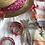 Thumbnail: Chapeau tie ans dye cyclamen/orange