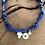 Thumbnail: Collier croix nacre medaille bleu