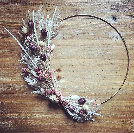couronne naturel et bois de rose