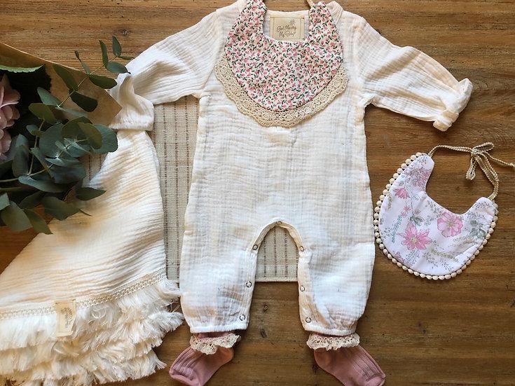 Combinaison Pantalon Bébé Blanche