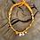 Thumbnail: Collier mandarine coquillage oeil jaune