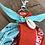 Thumbnail: Porte clefs Orange/aqua/Rose