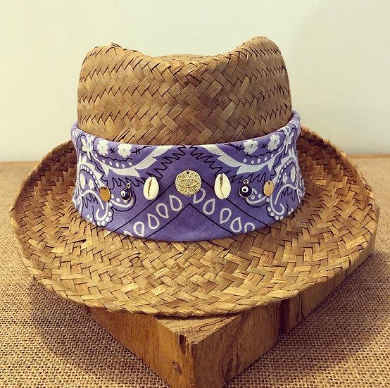Chapeau lilas oeil strass