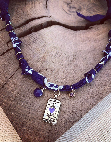 Collier tarot violet