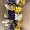Thumbnail: couronne naturel violet et moutarde