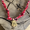 Thumbnail: Collier rouge amulette scarabee