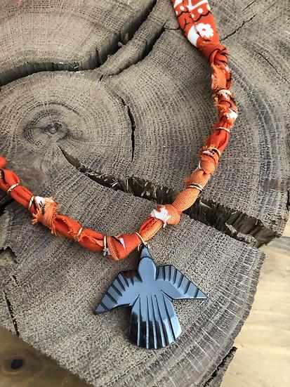 Collier orange condor