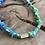 Thumbnail: Collier bleu/vert cylindre