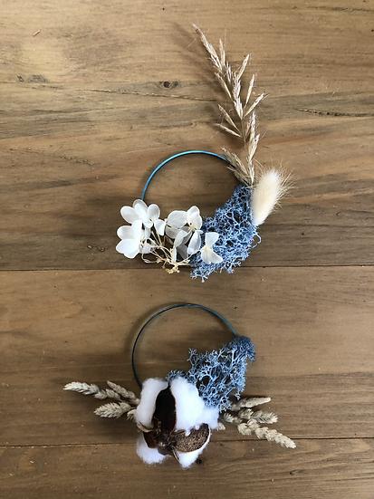 2 Mini couronne bleu