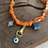Thumbnail: Collier orange bras scarabée