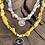Thumbnail: Collier jaune moutarde lune