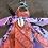 Thumbnail: Porte clefs lilas/orange fluo/ rose