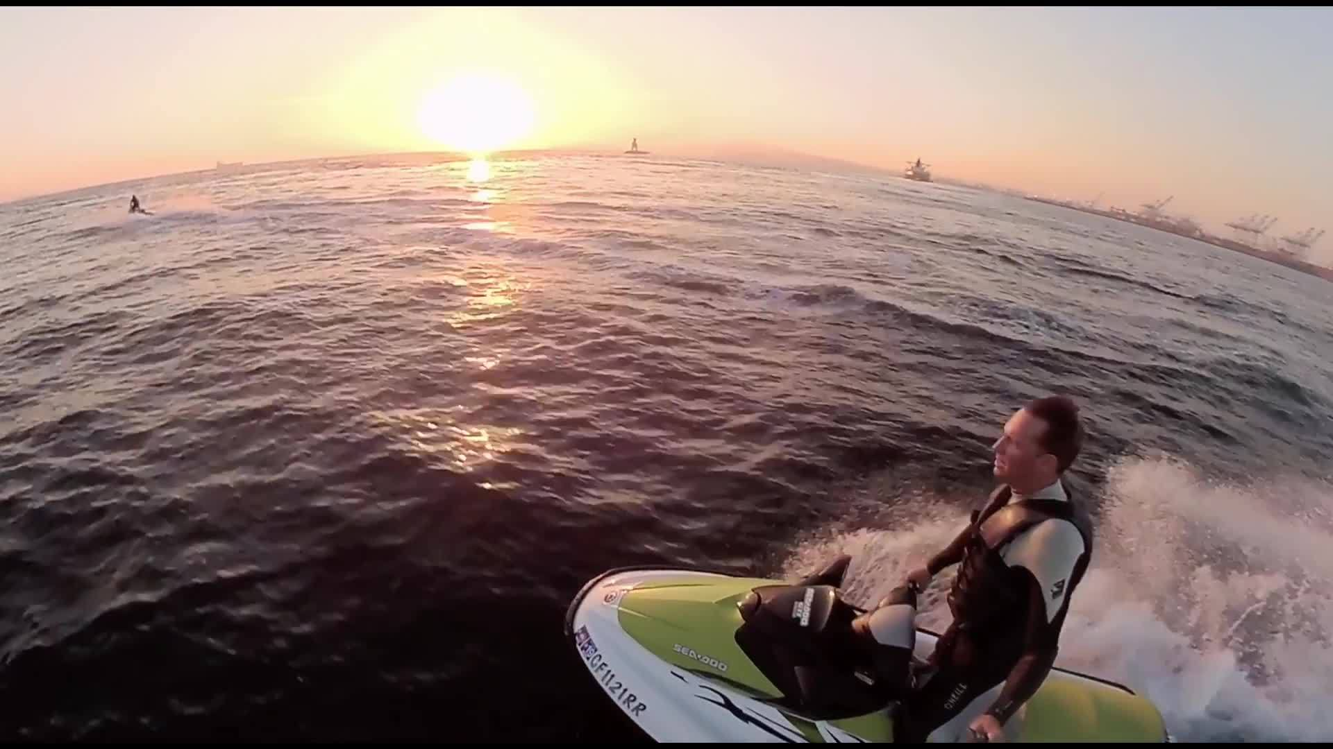 Jetski to Catalina Island at Night