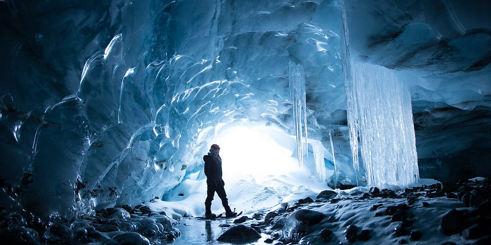 Ice Cave Exploration With Compass Heli