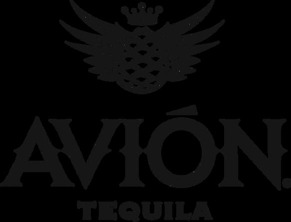 Avion Full Logo Black Hi Res PNG with Tr