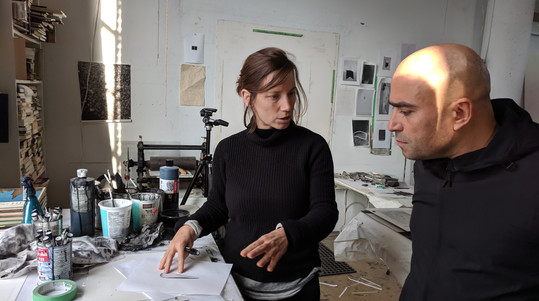 Meeting local artist