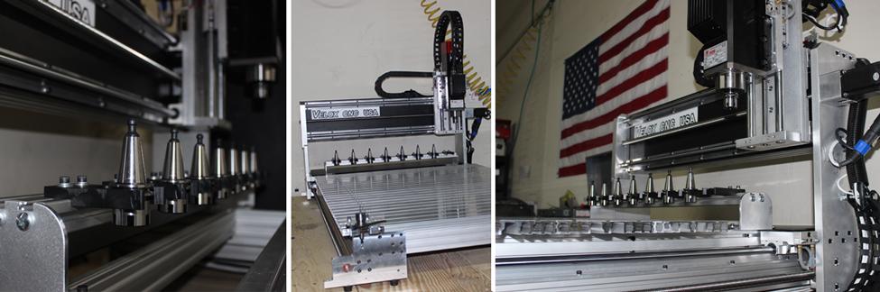 VELOX CNC automatic tool change. 2x4