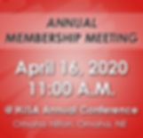2020 Annual Membership meeting homepage