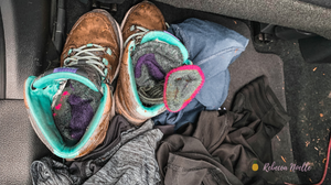 These clothes survived battle of a drenched filled hike. Darn tough socks survived.