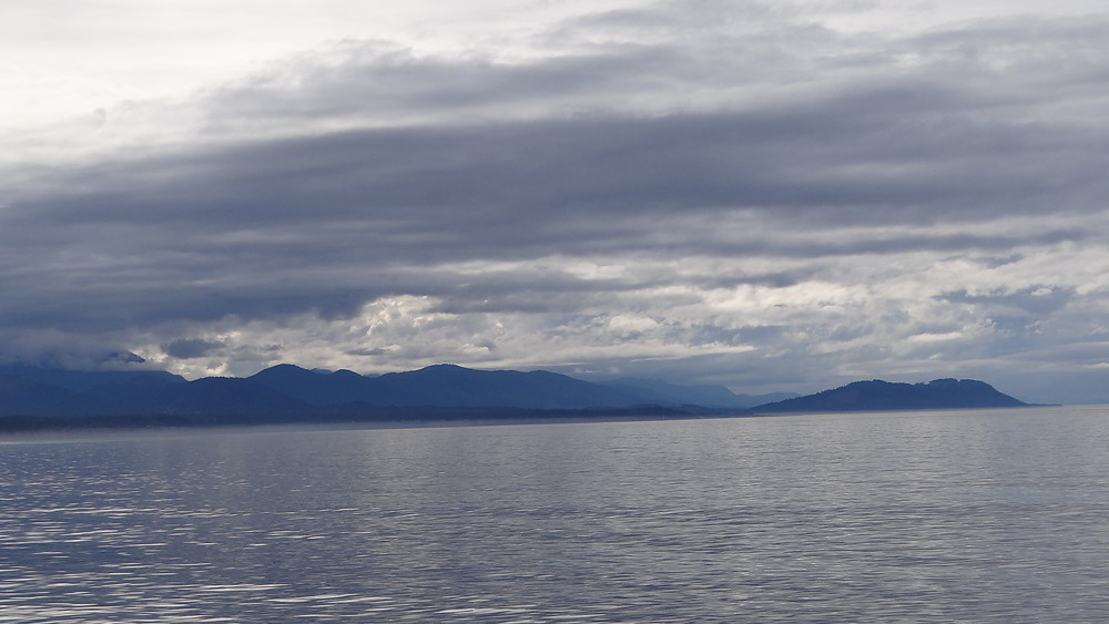 View from Black Ball ferry line returning from Victoria British Columbia.