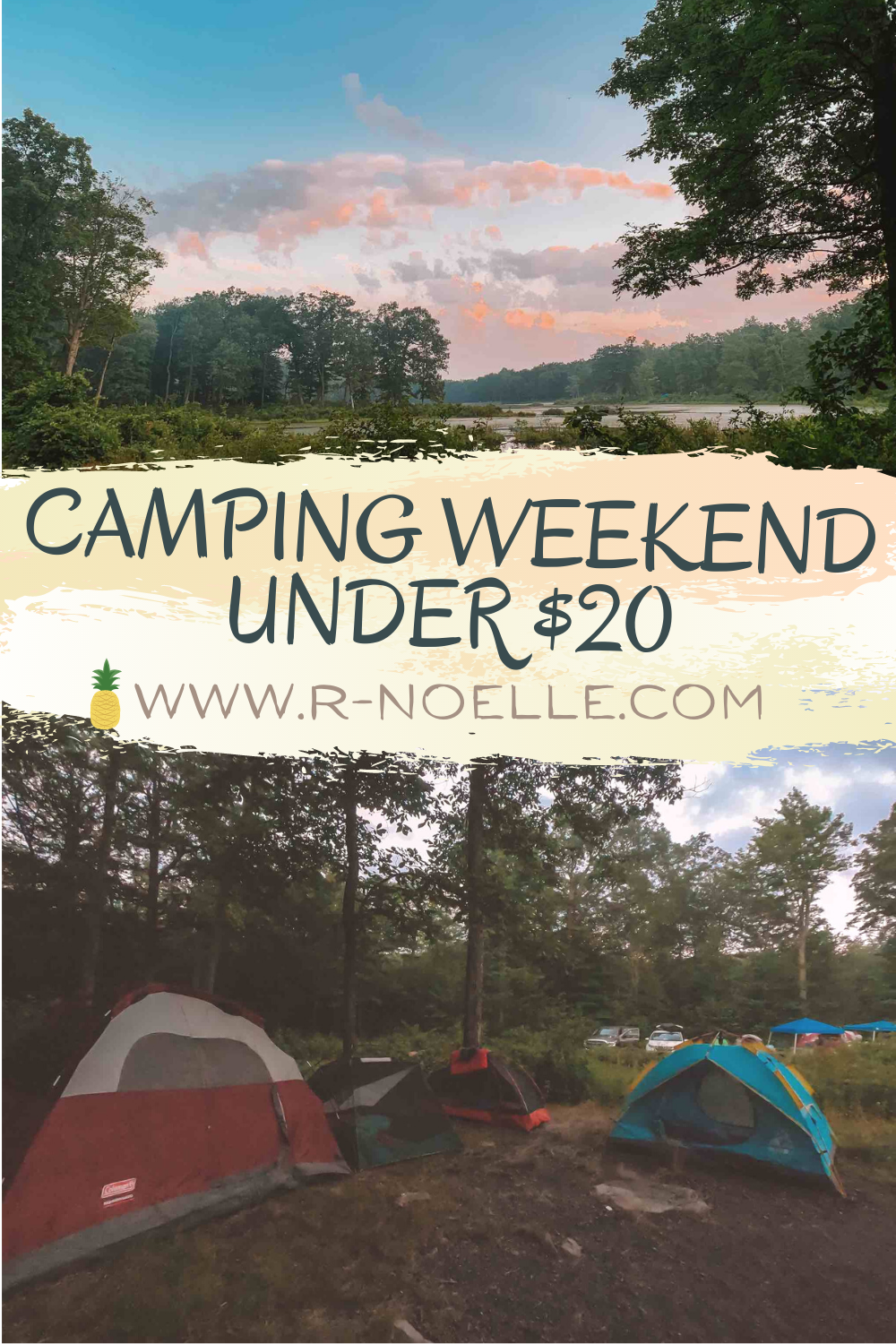 Camping can range in prices. Research campsites in the area you're planning to stay. At High Point State Park in New Jersey there is a campsite that give your gorgeous views and large campsites to make the most of your camping weekend. Also not a massive bang for your buck.