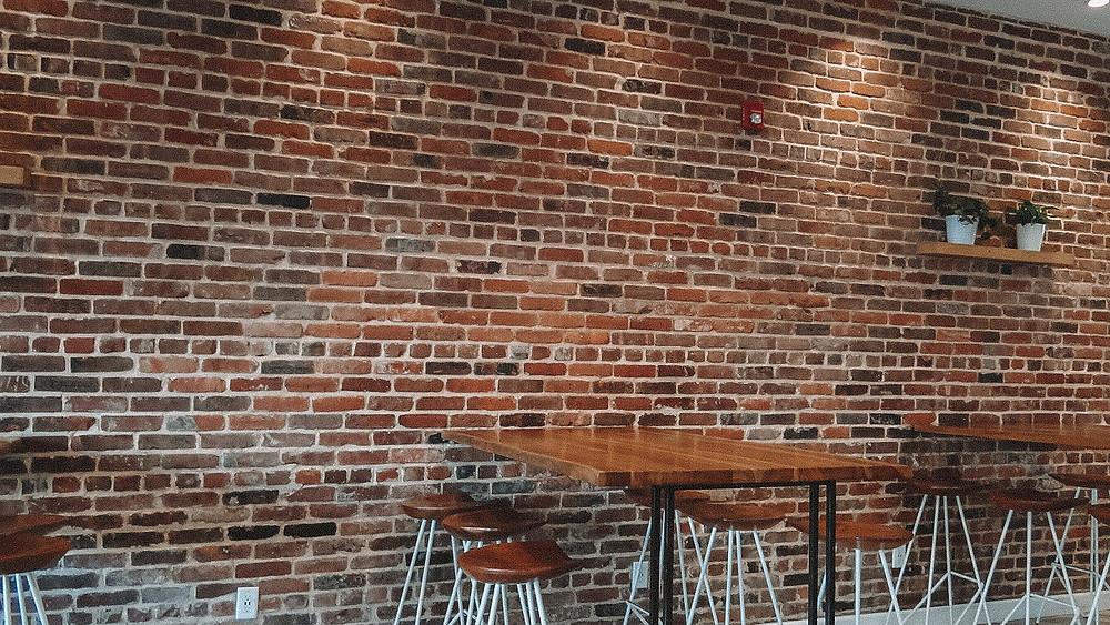 Beautiful brick backdrop in Dulce De Leche, North Bergen New Jersey.